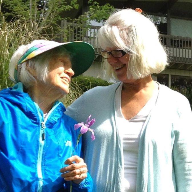 mama and me with iris
